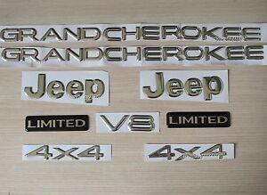 Jeep Grand Cherokee Jeep 4X4 Limited Emblem Badge Logo Nameplate Chrome