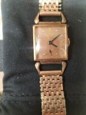 Vintage Bulova Men's Art Deco 14K Gold Filled Manual Wind Watch-WORKING!!!!!!!!