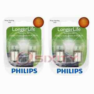 2 pc Philips License Plate Light Bulbs for Ford Pinto 1974 Electrical fk