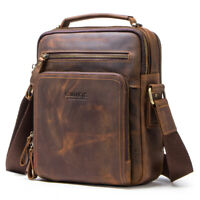 Men's Fashion Vintage Leather Messenger Bag Tote Bag Laptop Bag Briefcase Tote
