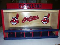 Bobbleheads display case Cleveland Indians Handcrafted Pinewood with Wahoo chief