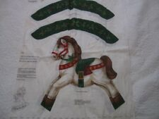 Christmas Rocking Horse  -  cut and sew panel -