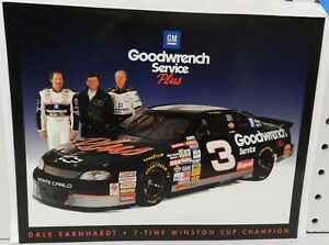 CHEVY MONTE CARLO 3 DALE EARNHARDT GOODWRENCH 7 TIME CHAMPION POSTCARD HANDOUT