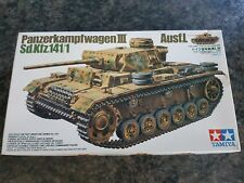 Tamiya 1/35 alemán Panzerkampfwagen III Ausf. L Tanque muy buen estado Muy Raro