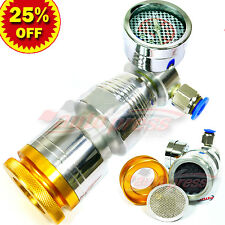 Air Intake Charger COMPRESSOR TURBO Supercharger Pressure Accelerator SILVER