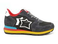 Atlantic Stars sneakers Antares da uomo camoscio tessuto tecnico grigio scuro