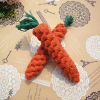 Chew Toys Braided Cotton Rope Carrot Durable Dog Teeth Cleaning For Pet Bite CN