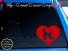 Afghan Hound in Heart - Vinyl Decal Sticker / Color Choice - High Quality