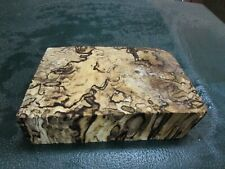 SPALTED HACKBERRY DELUXE KNIFE BLOCK/SCALES/ CALLS/ PEN BLANKS--H---27