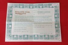 ROLEX 66218 CELLINI Guarantee Garantie Warranty Certificate 1991 568.06.9V