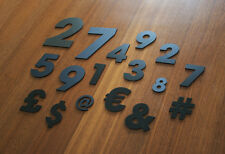 Acrylic Numbers Symbols Avant Garde - Home Plaque Sign - Black White Gold Silver