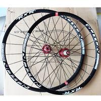 "26"" 27.5"" 29"" QR/Thru Wheel Carbon Hub MTB Bike Wheelset Set (Front & Rear)"