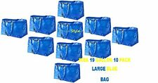 IKEA 10 PIECE FRAKTA LARGE 19 GALLON BLUE SHOPPING ,LAUNDRY BAG,