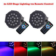 2Pcs RGB 18LED 36W Stage Lighting Club Bar DJ Party DMX512 LED Par Light Remote