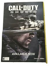 """VINTAGE SIGN RARE Call Of Duty Ghosts PROMO ONLY HUGE DOUBLE SIDED POSTER 48X33"""""""