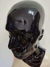 Latexmaske, Reißverschluß, Latex-Maske, rubber hood, mask zip 0,7geschl.