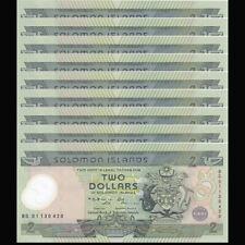 Lot 10 PCS, Solomon Islands 2 Dollars, ND(2001), P-23, Polymer, COMM., UNC