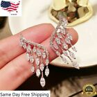 Gorgeous 925 Silver Drop Earrings For Women Cubic Zirconia Jewelry Gift A Pair