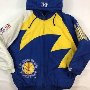 Vintage Golden State Warriors Logo Athletic Puffer Jacket. Mens XL