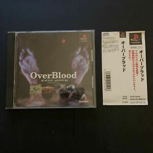 Over Blood - A 3D Active Adventure - Sony PlayStation 1 PS1 NTSC-J Japan Game