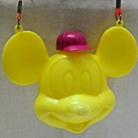 Vintage Mickey Mouse Yellow  Kids Blow Mold Plastic Canteen Disney