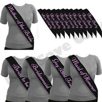 BULK BUY LOT *BLACK W PINK* HEN NIGHT PARTY DO BRIDE TO BE SASH GIRLS NIGHT OUT