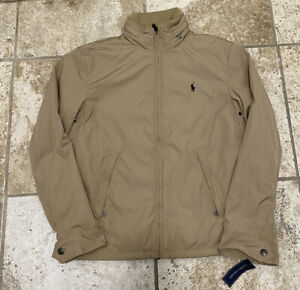 polo ralph lauren lightweight jacket tan size small new with tags