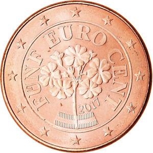 [#766449] Autriche, 5 Euro Cent, 2017, SPL, Copper Plated Steel