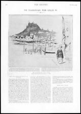 1898 Antique Print - USA Klondyke Gold All Canadian Route Fort Wrangel  (165)