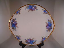 Cake Plate w/ Tab Handles, Royal Albert Fine China, Moonlight Rose Pattern, Gold