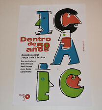 Cuban original SILKSCREEN movie poster.Handmade art.ICAIC Cinema.Nelson Ponce