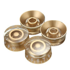 4pcs Gold Speed Volume Tone Control Knobs For Gibson Les Paul Electric Guitar Q