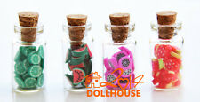 Free shipping! Dollhouse Miniatures Glass bottle Fruit Jar 4PCS