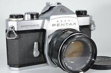 ASAHI PENTAX SP Silver 35mm SLR w/Super-Takumar 55 f1.8[Excellent+] from JAPAN