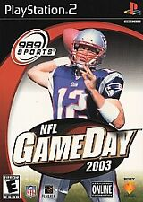 NFL GameDay 2003 PS2 PlayStation 2 Football 03 989 Sports Manual Sticker
