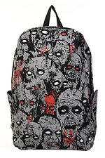 Gray and Black Zombie Army Bagpack (Eyes Glow in The Dark) By Banned