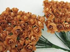 144 Mulberry Paper Rose Flower/wedding Favor/decoration/craft/bouquet H420-Brown