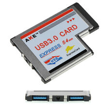 54mm Express Card Expresscard to 2 Port USB 3.0 Adapter for Laptop NEC Chip