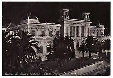 CARTOLINA 1957 SANREMO RIVIERA DEI FIORI  CASINO' MUNICIPALE DI NOTTE VIAGGIATA