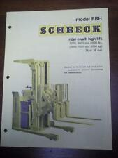 Shreck Industrial Truck Brochure~RRH Rider-Reach High Lift
