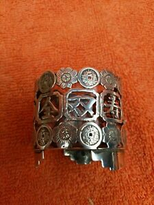 Antique Import Solid Silver Chinese Salts with Liner 90 Wang Hing C1880-1900 aao