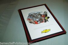 1964 Chevrolet 409 Dual Quad Engine Illustration David Kimble L80 RPO Beach