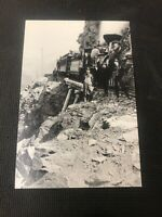 postcard Vintage Payne Bluff Samson B.C. In 1898 Train  Pioneer Card Repro  I01