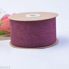 10M Faux Burlap Hessian Jute Bow Tape Arts Craft Gift Wrap Rustic  Ribbon