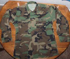 Seabees    Uniform     Woodland Combat  Camo   Coat     Medium Reg   # 2