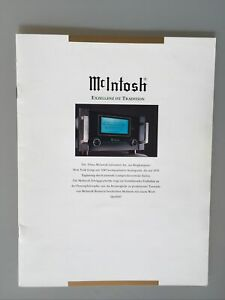 Mcintosh Prospekt Katalog Mc1000 Mc500 C40