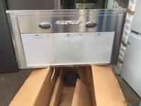 NEW RANGEMASTER LEIHDC90SC Chimney Cooker Hood - Stainless Steel 90CM