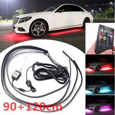4x 90+120cm LED Bunt RGB Unterbodenleuchten Universal 12V Auto mit Fernbedienung