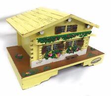 Sankyo Orgel Jewelry Music Box With Ballerina Yellow Wooden House