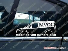MVOC modified van owners club sticker for Ford Transit Connect Van ,2nd GEN, mk2